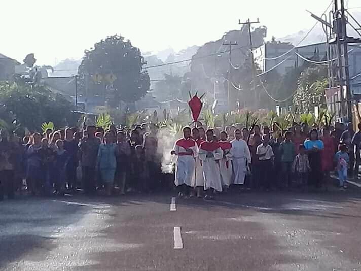 """Wisata Rohani dan Budaya """"Festival Saung Pinggong"""" di Hari Minggu Palma menjelang Perayaan Paskah tahun 2019"""
